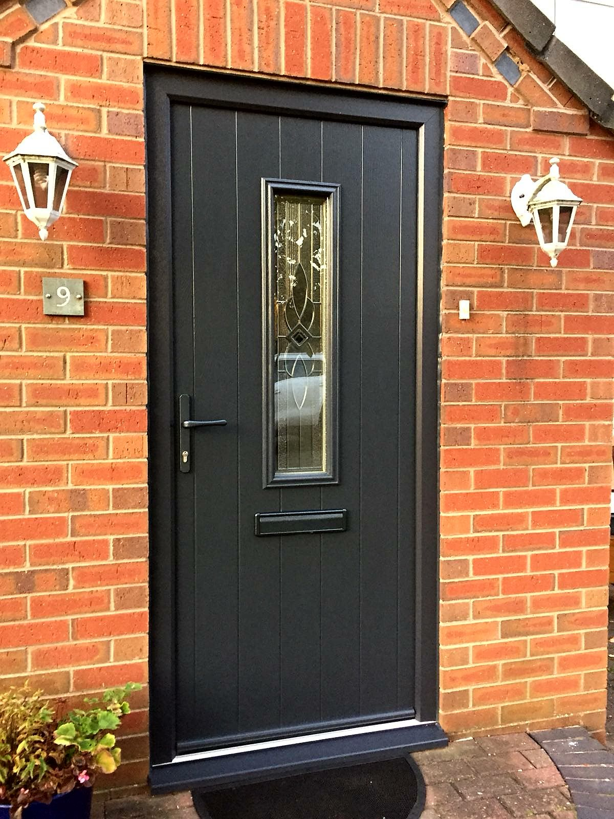 Endurance Doors Lingmoor Anthracite Grey With Black