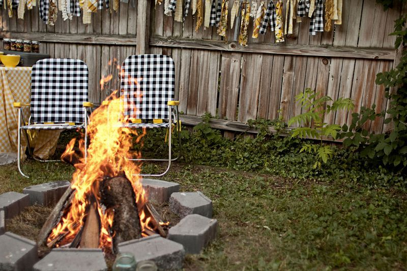 Backyard Bonfire Party Ideas how to throw a burlap and pink bonfire bonanza with bonfire cupcakes hobo dinners Backyard Bonfire 21st Birthday Idea Smores