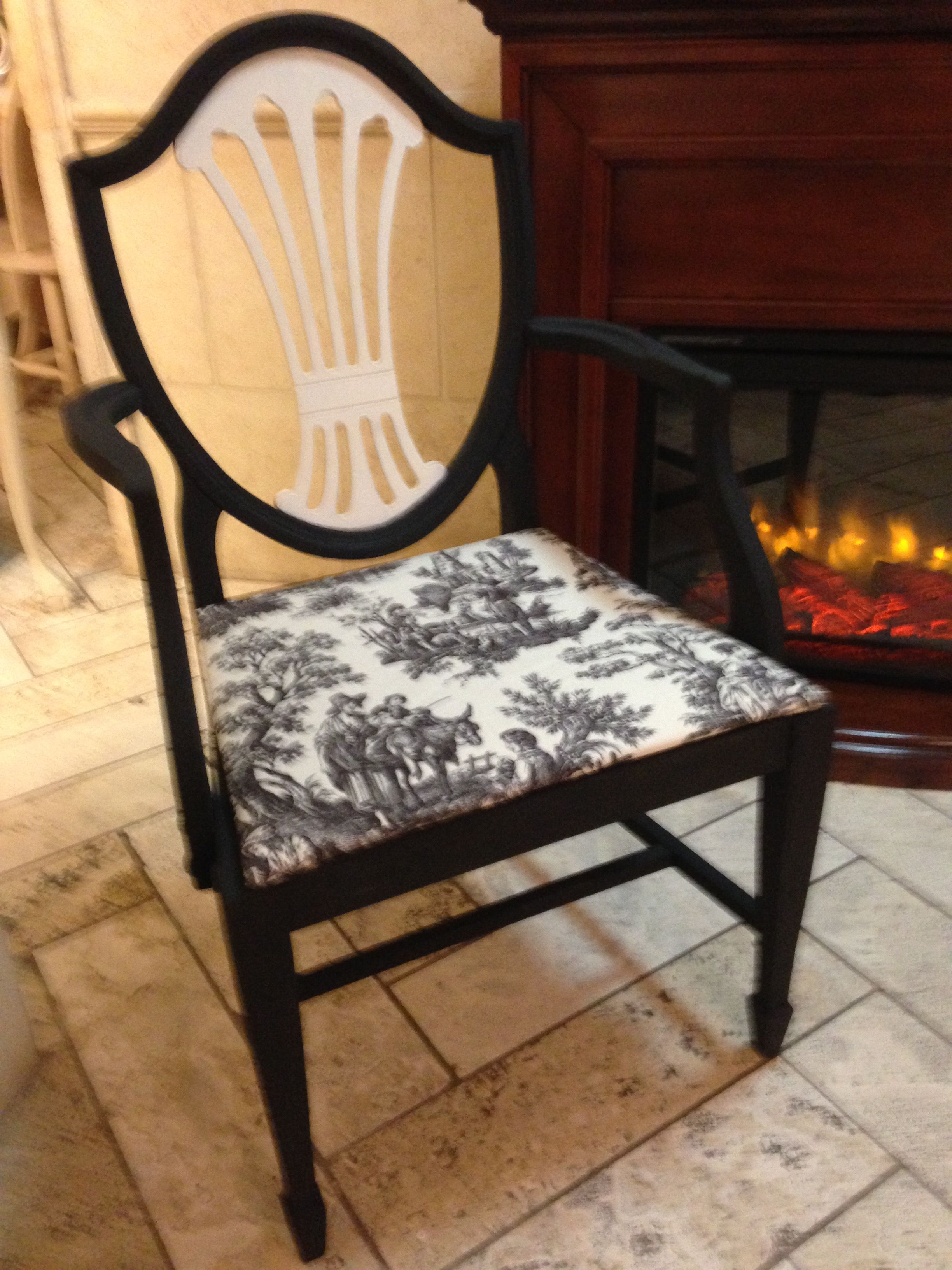 Antique Shield Back Chair Transformed With Van Gogh Fossil Paints