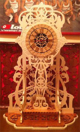 Varese clock, scroll saw fretwork pattern
