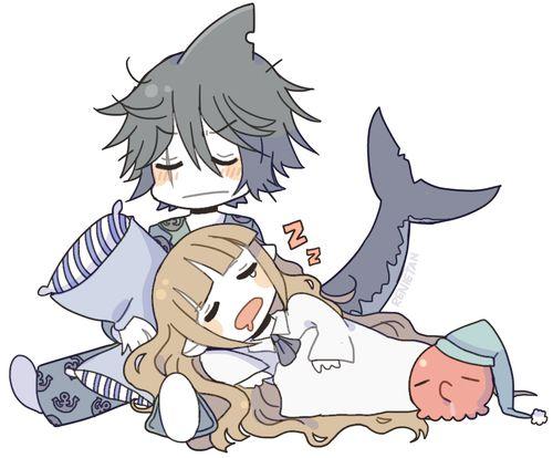 WATGBS - Wadanohara, Samekichi, Tarako - This is so cute I literally have no words.