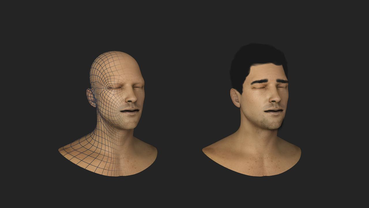 Skin shader  test on Vray