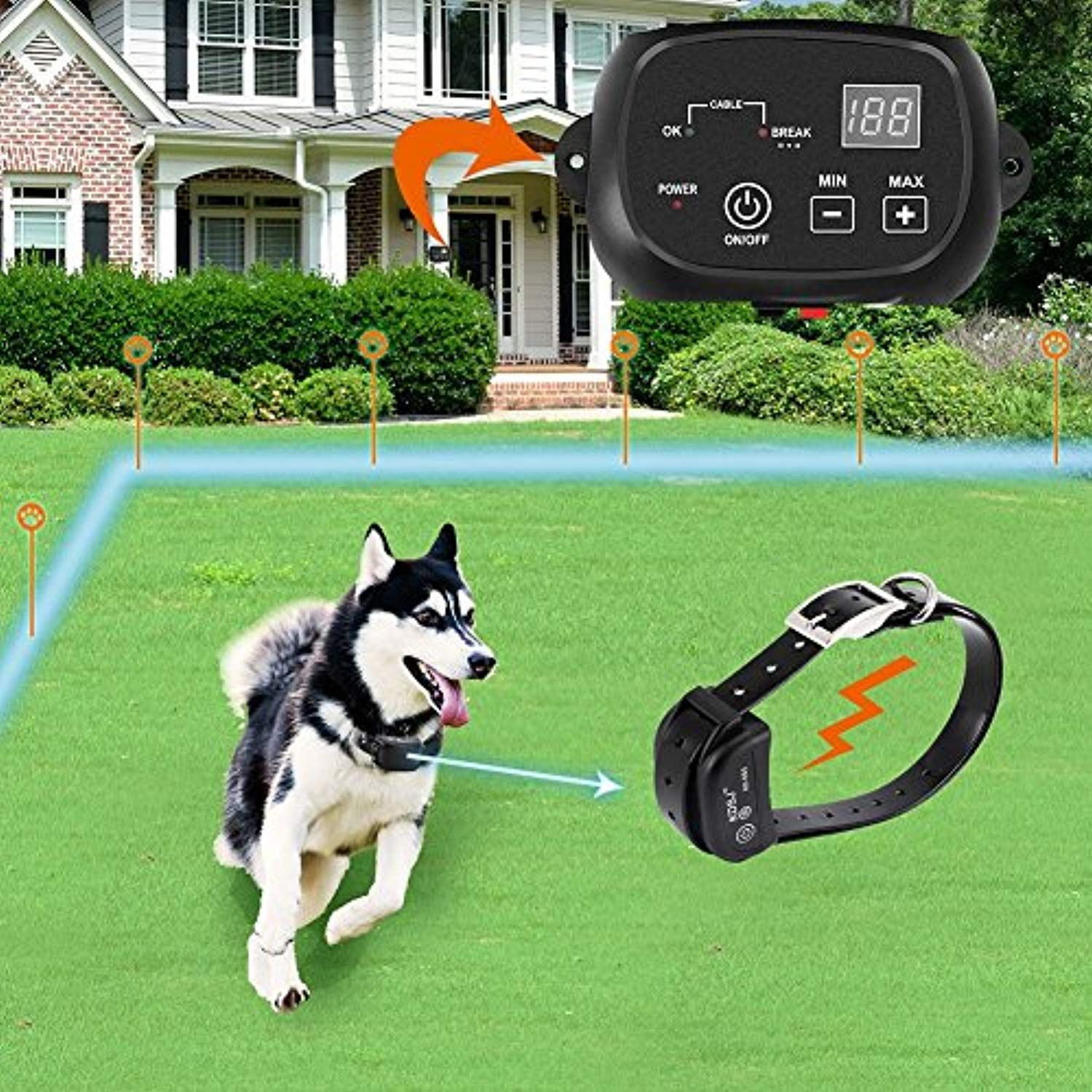 Covono Invisible Fence For Dogs Underground Electric Dog Fence
