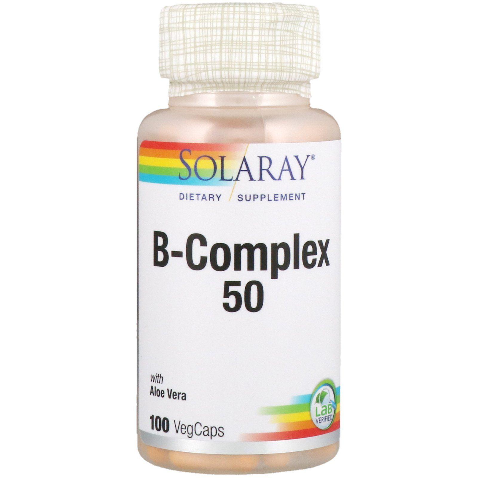 Solaray B Complex 50 100 Vegcaps Kapsula