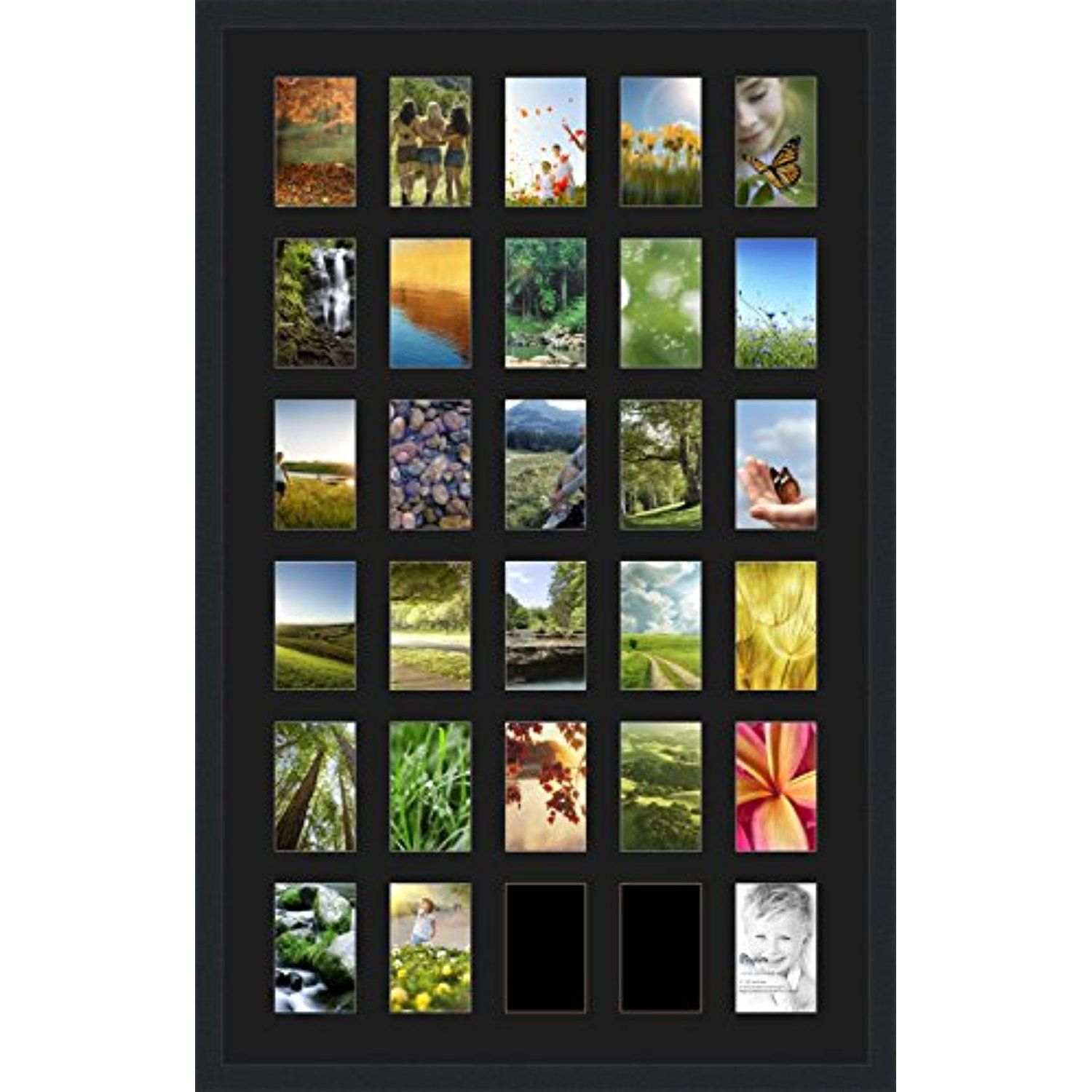 ArtToFrames Collage Photo Frame Double Mat with 30 4x6