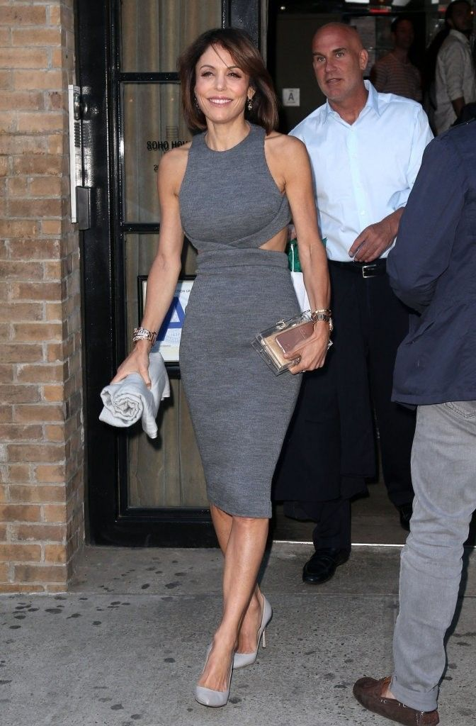 Bethenny Frankel Cutout Dress Wowed In A Figure Flaunting Gray While Out And About New York City