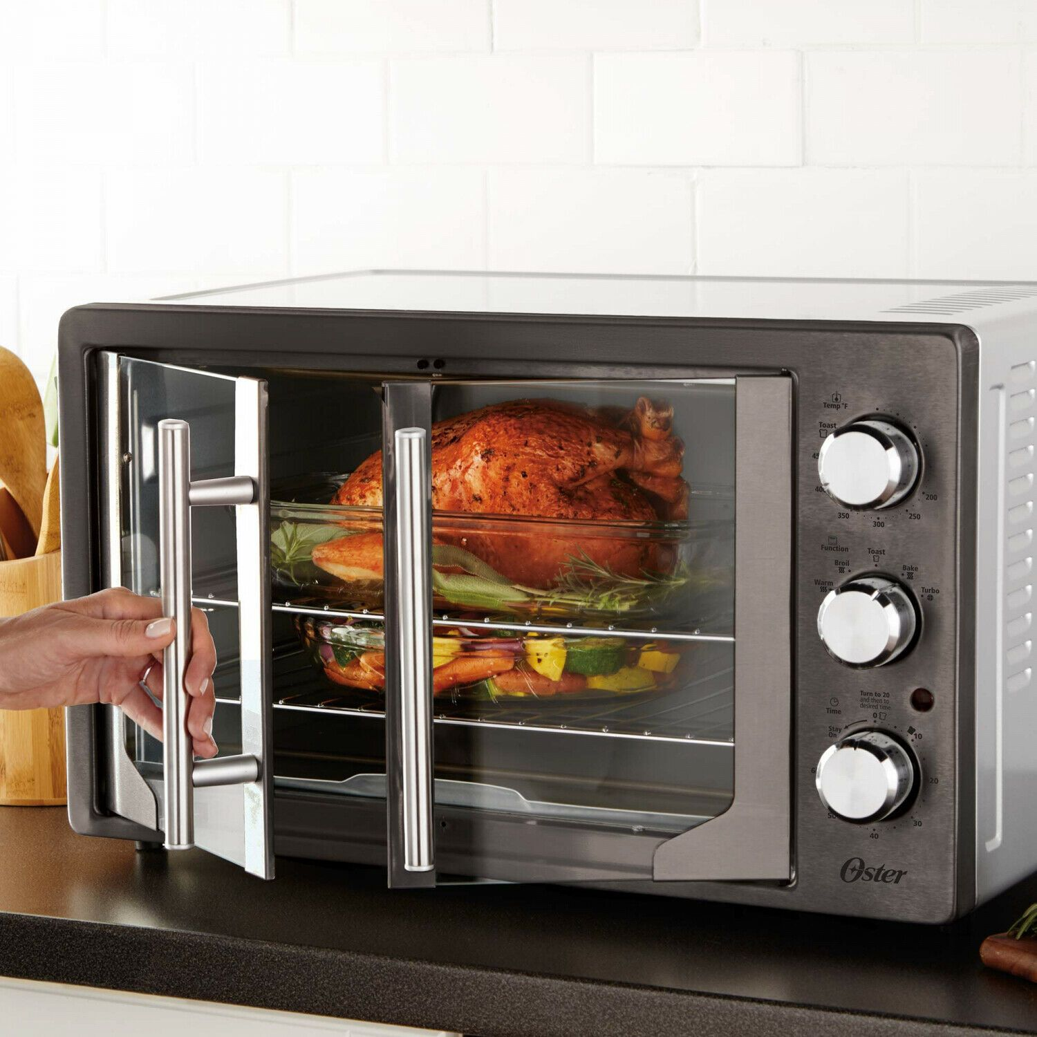 Details About Charcoal Analog French 2 Door Oven W Convection 2