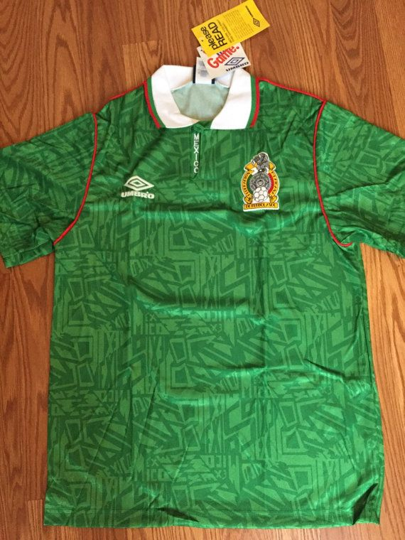 848655ad2 Brand new vintage mexico soccer jersey umbro medium small authentic classic  football shirt futbol