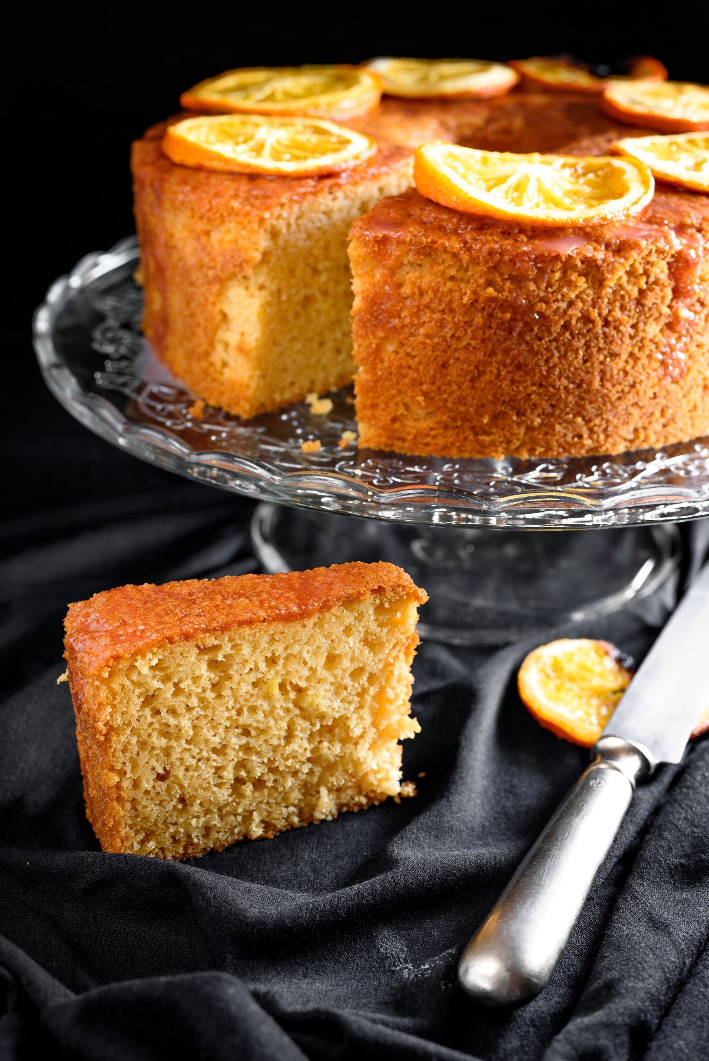 Skip The Mix And Bake This Easy Sour Cream Orange Cake Recipe Orange Cake Orange Slice Cake Sour Cream Cake
