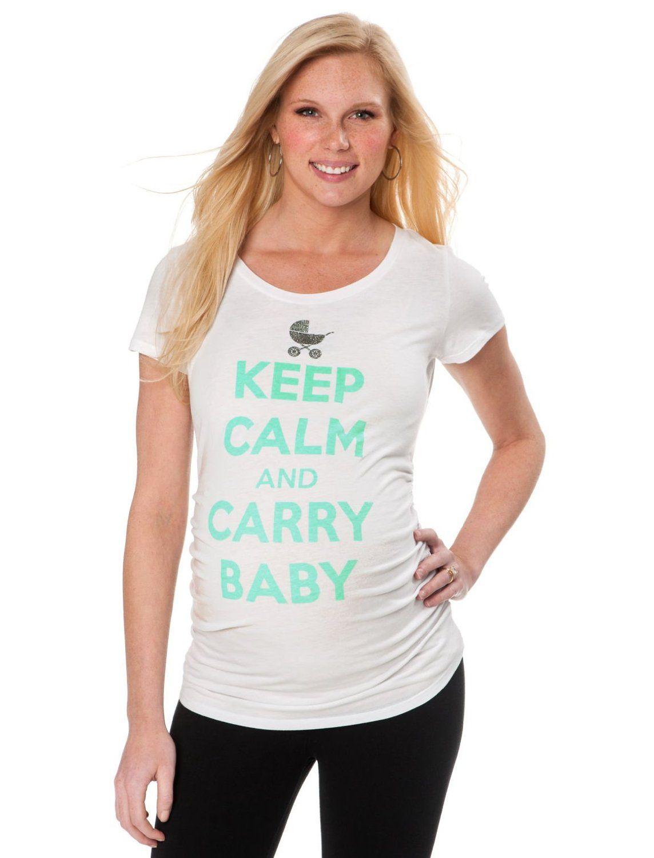 6a6de2d8f2acf Cute!! Amazon.com: Motherhood Maternity: Keep Calm And Carry Baby Maternity  Tee: Clothing