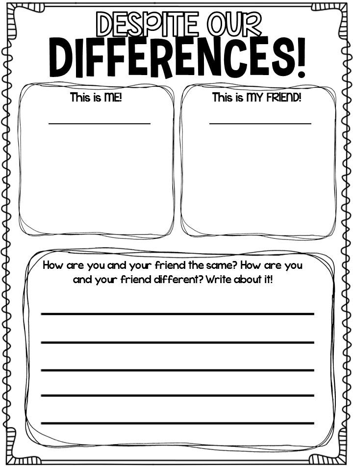Black History MonthDespite Our Differences activity – Black History Month Worksheet