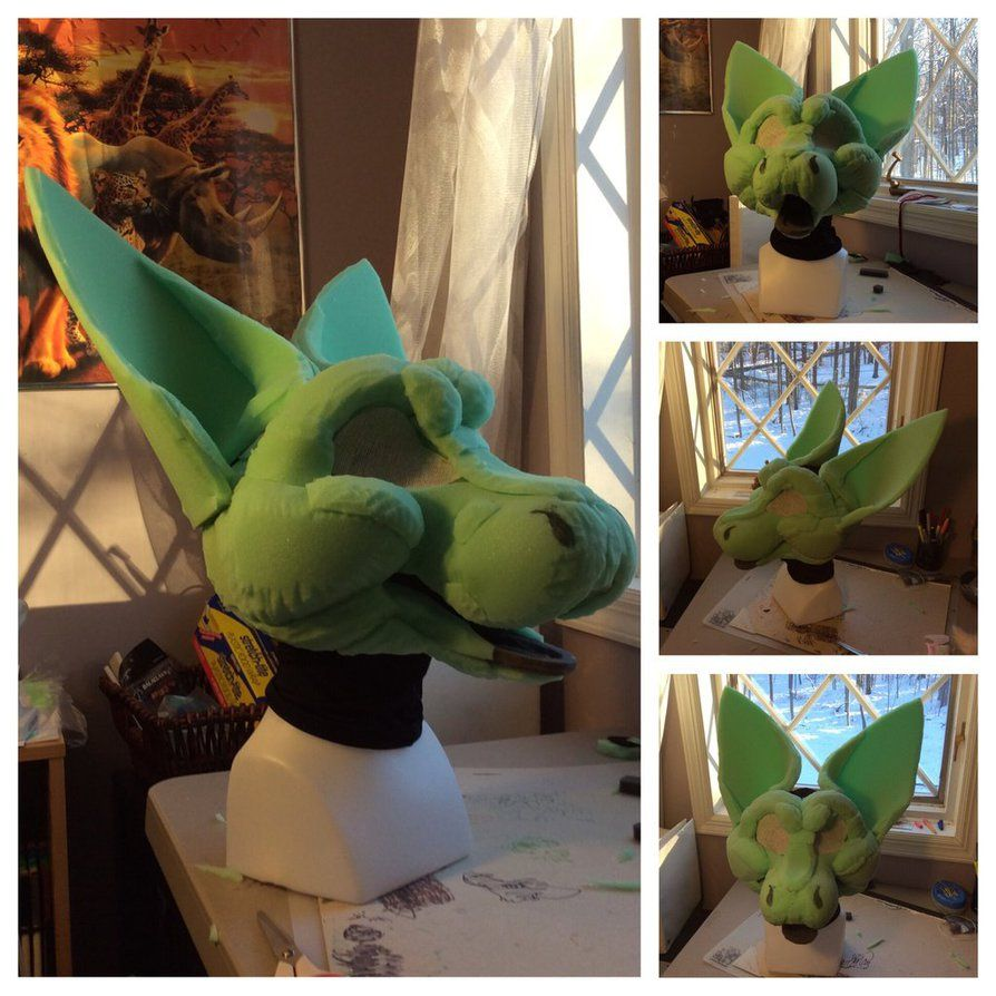 Angel Dragon Foam Base up for Auction by GoldenCat22