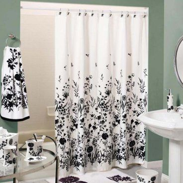 Black And White Shower Curtains Design