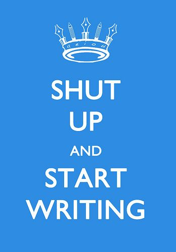 It's National Novel Writing Month, so WRITE ALREADY.