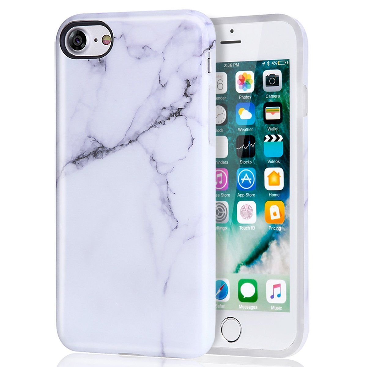 huge selection of 63836 17f55 Marble iPhone 7 Case For Girls White iPhone 8 Case, DAKMEEA Best ...