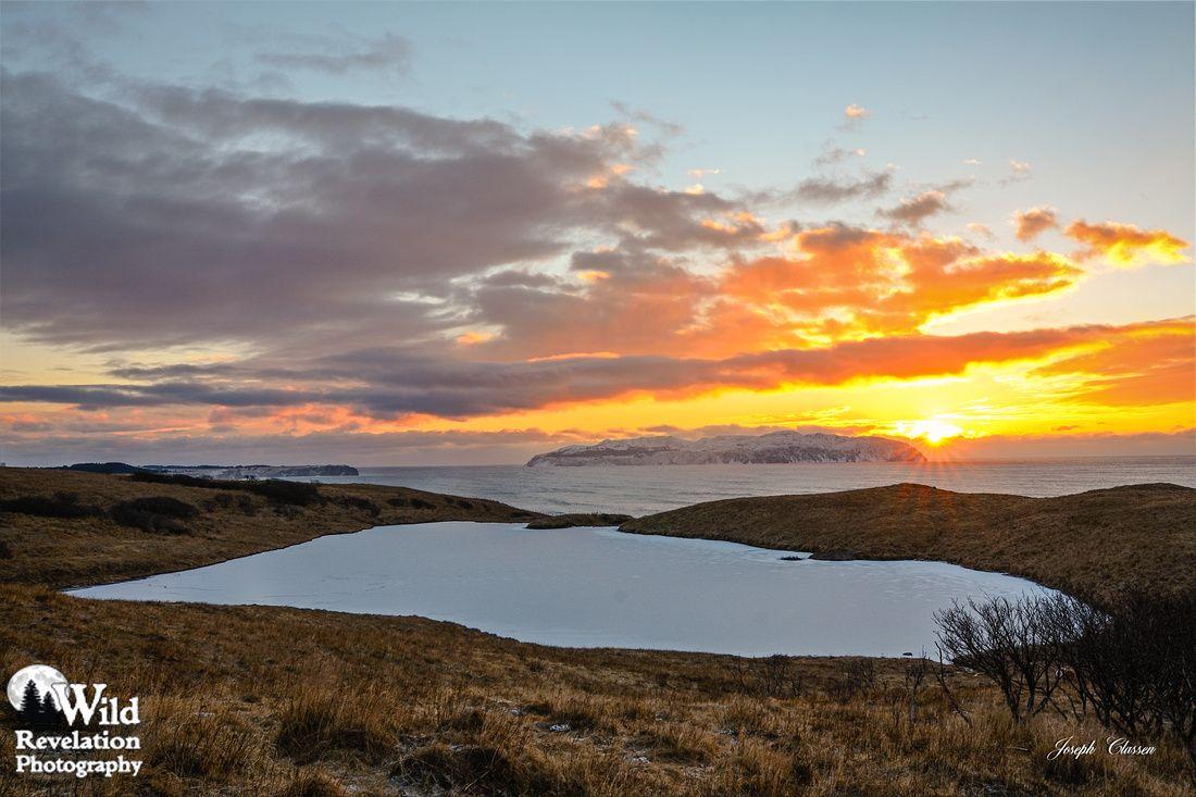 Kodiak Island, Alaska Lupine Lake Winter Sunrise