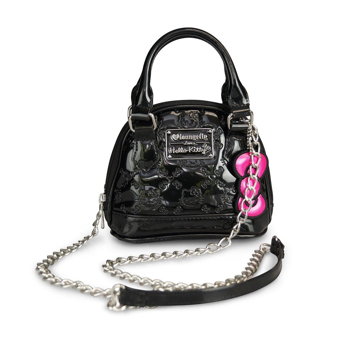 Hello Kitty Black Embossed Micro Dome Crossbody Bag View All Bags