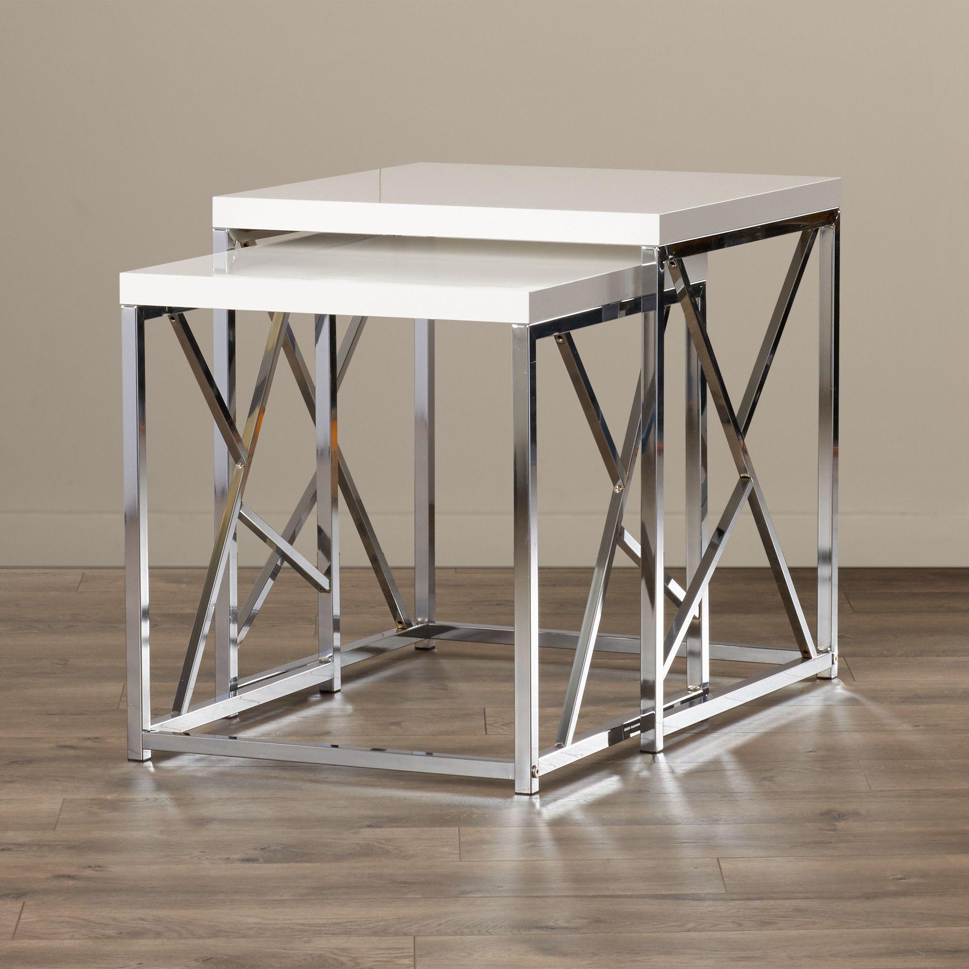 Brayden Studio Dripping Springs 2 Piece Nesting Table Set