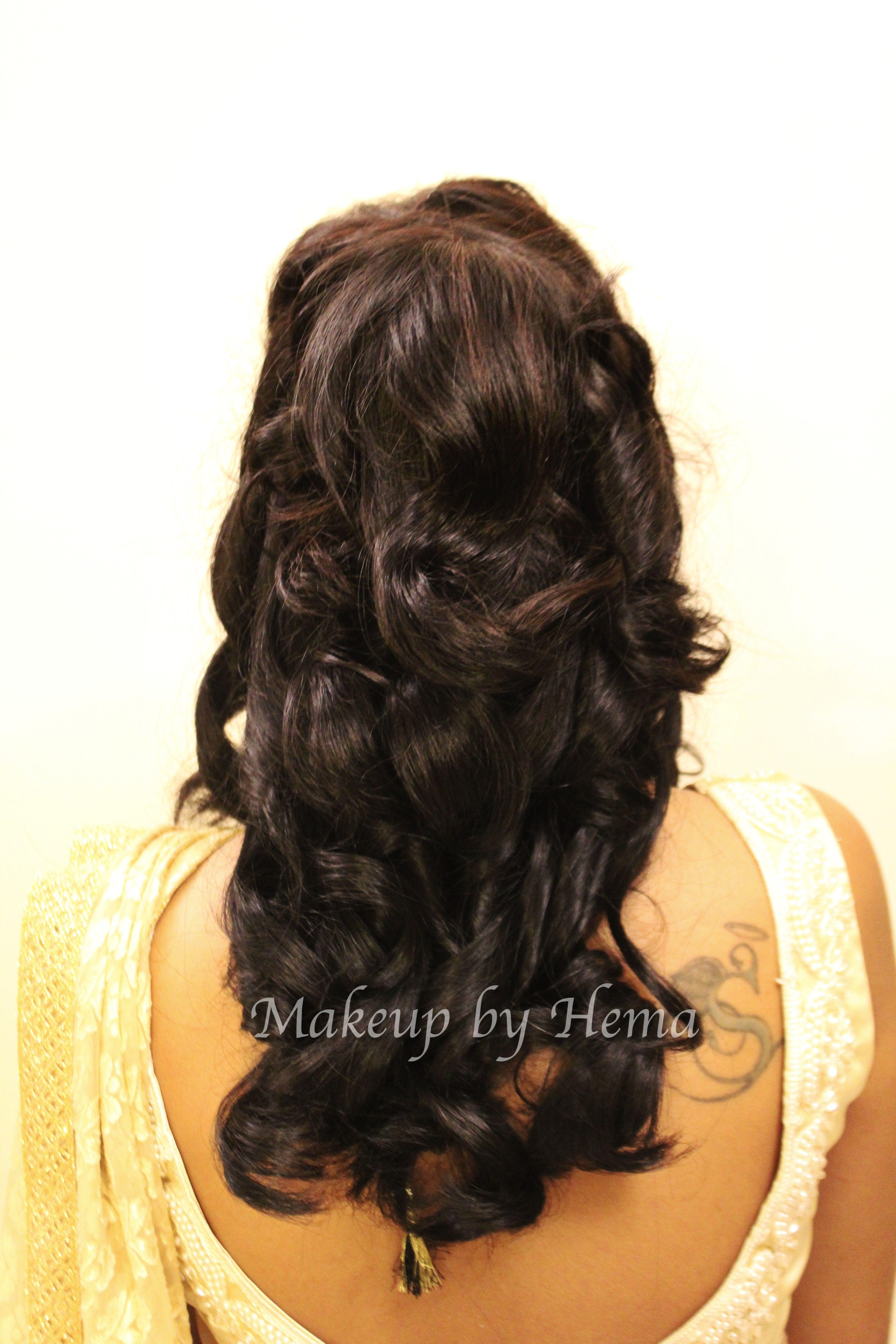 Party hairstyle pretty half up half down half updo loose curls