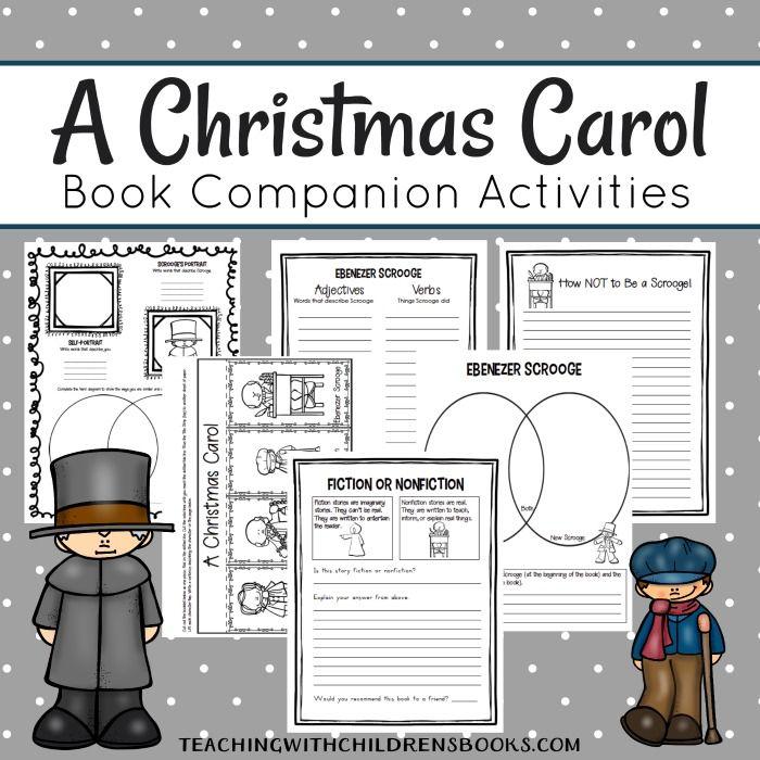 Printable A Christmas Carol Unit Study Resources {Scrooge}   Christmas carol book, A christmas ...