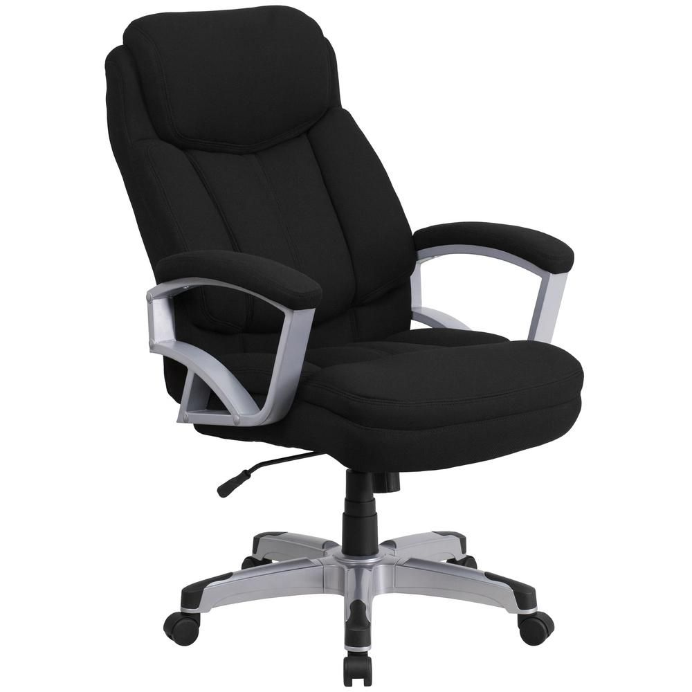 Black Fabric Office Desk Chair