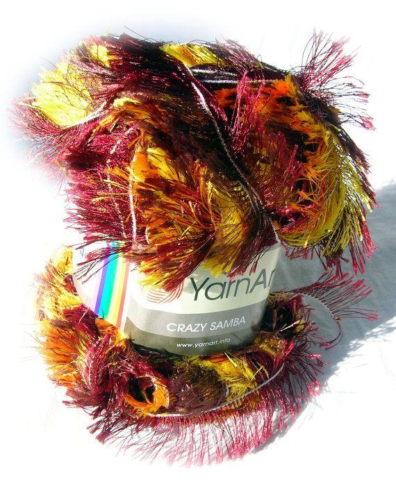 Long eyelash yarn  YarnArt Crazy Samba  Color 767  by HandyFamily