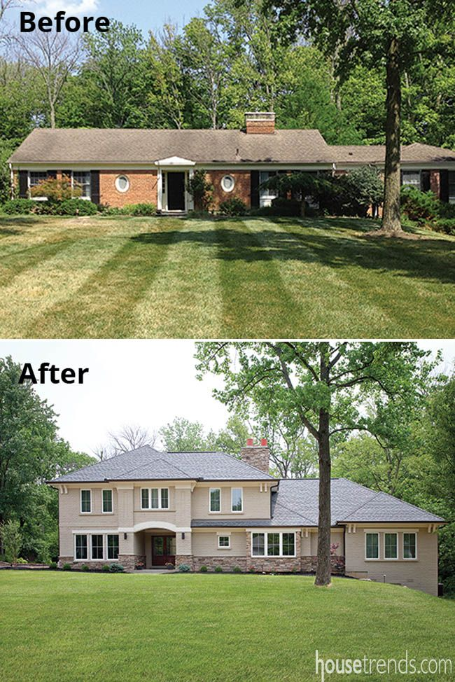 Eye Catching Exterior Remodeling Ideas Exterior Remodel Ranch House Remodel Home Addition Plans