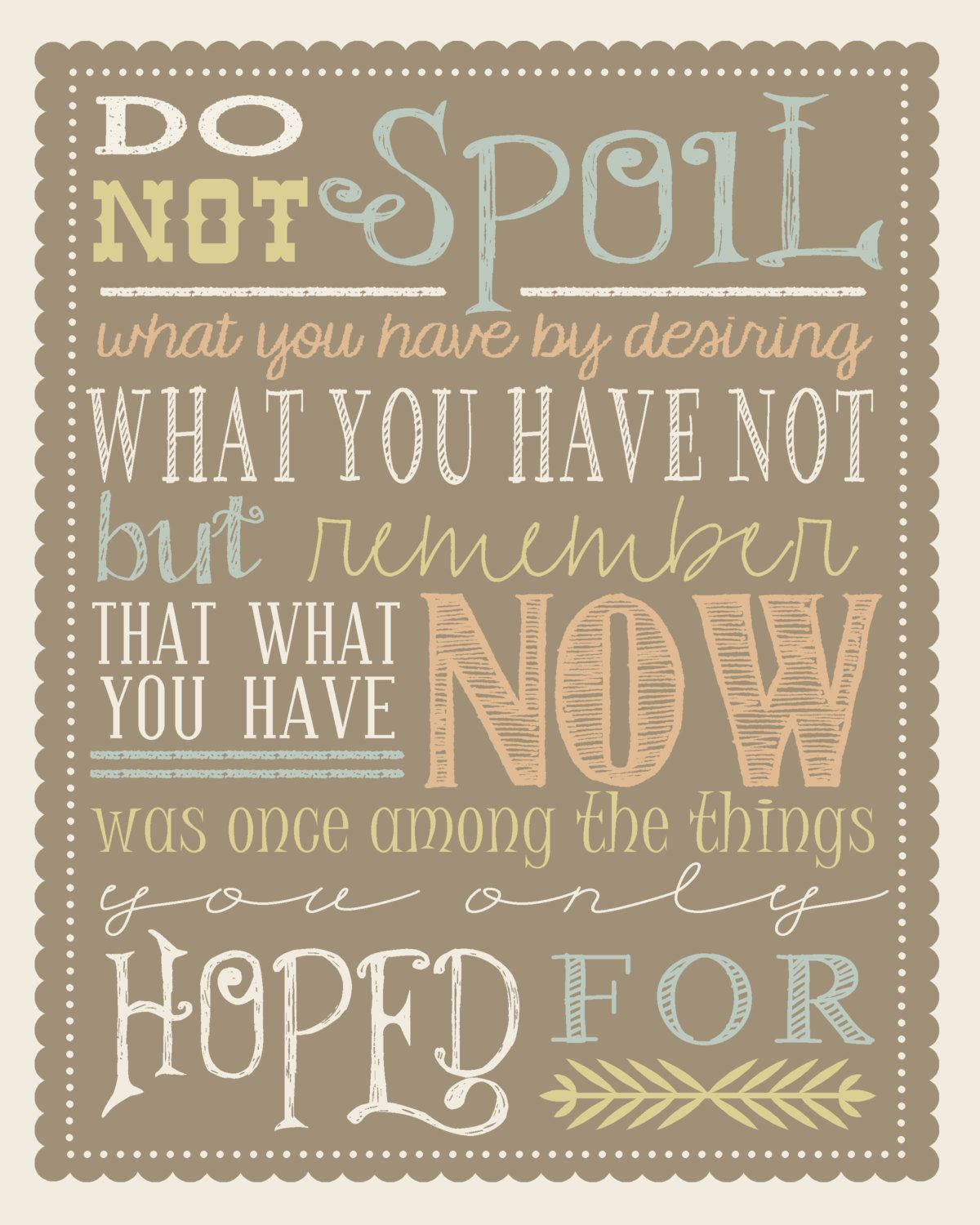 Be Thankful Quote No. 123 By TheMeekBoutique On Etsy, $5
