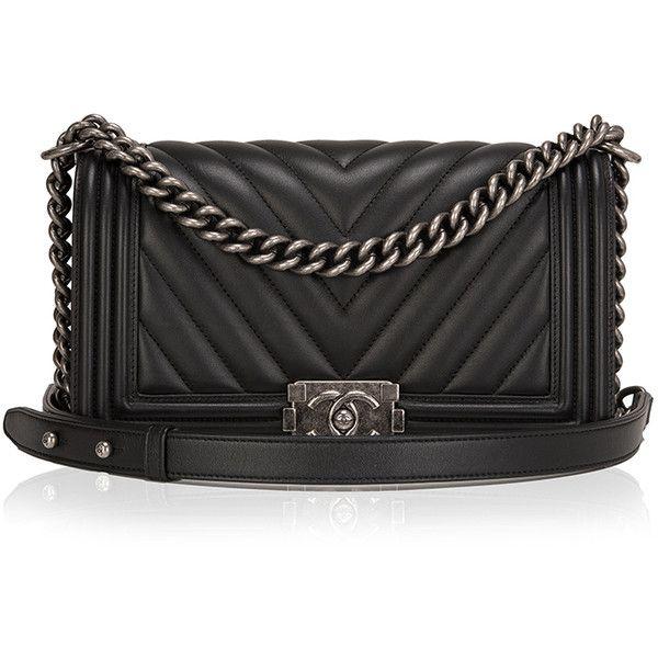 6f7ddbbb94cb Madison Avenue Couture Chanel Black Chevron Medium Boy Bag ( 6