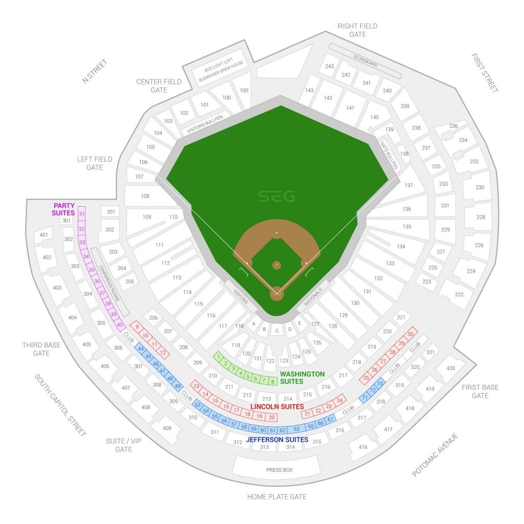 The Brilliant Nats Stadium Seating Chart