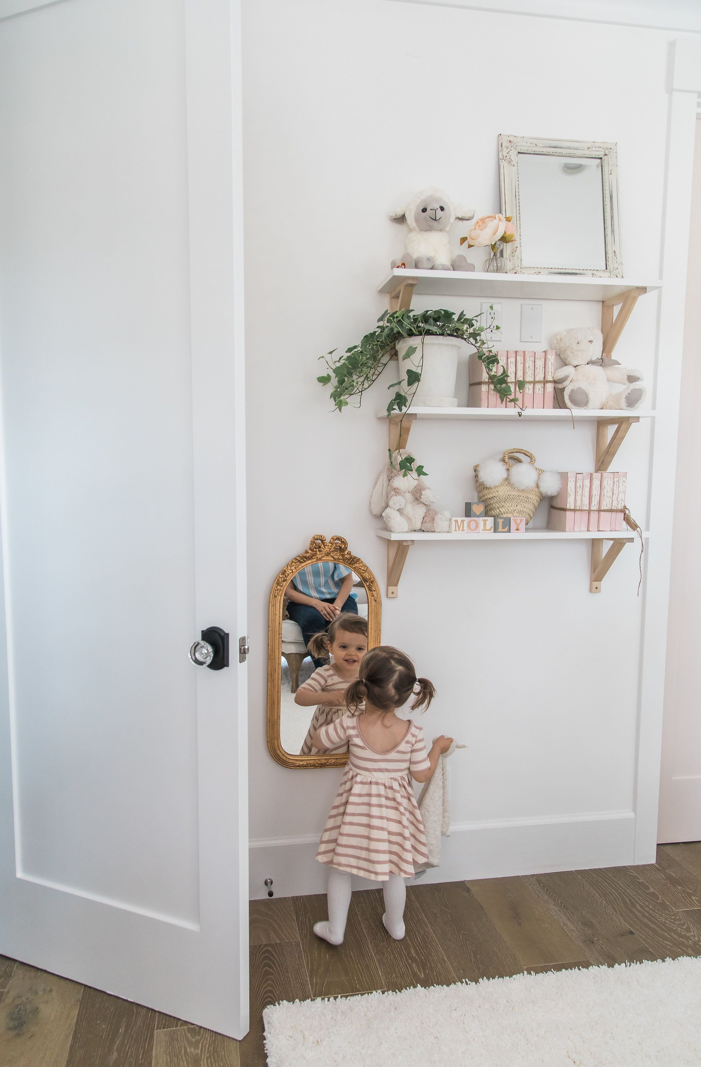 A little Girl's Room Decor Ideas - Blush Paint and Whimsical - Design Inspo