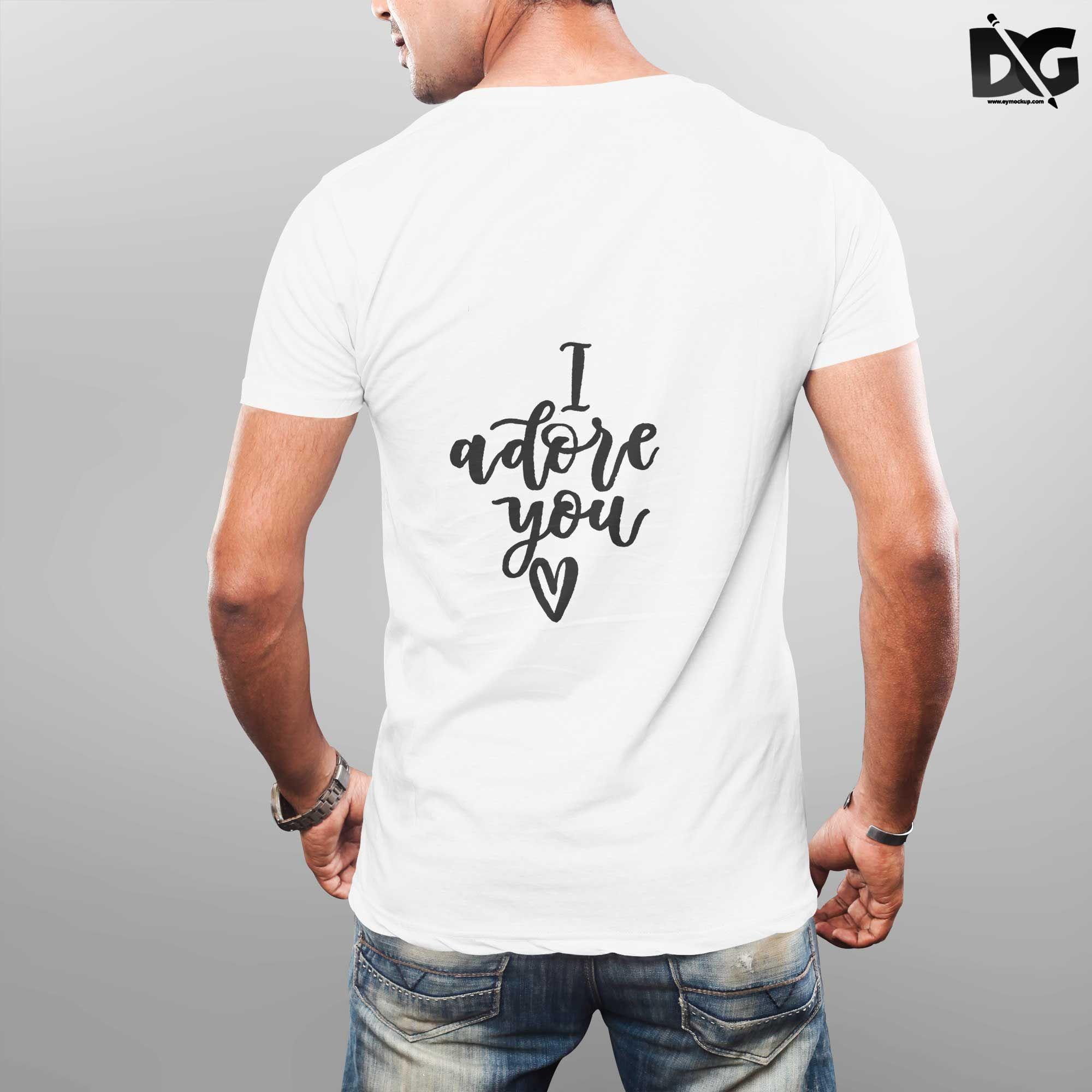 Free Premium Tshirt Back Psd Mockups Clothing Mockup Clothing Labels Design Logo Design Mockup