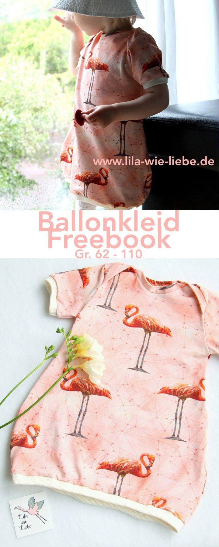 Ballonkleid für Kinder nähen - Freebook \