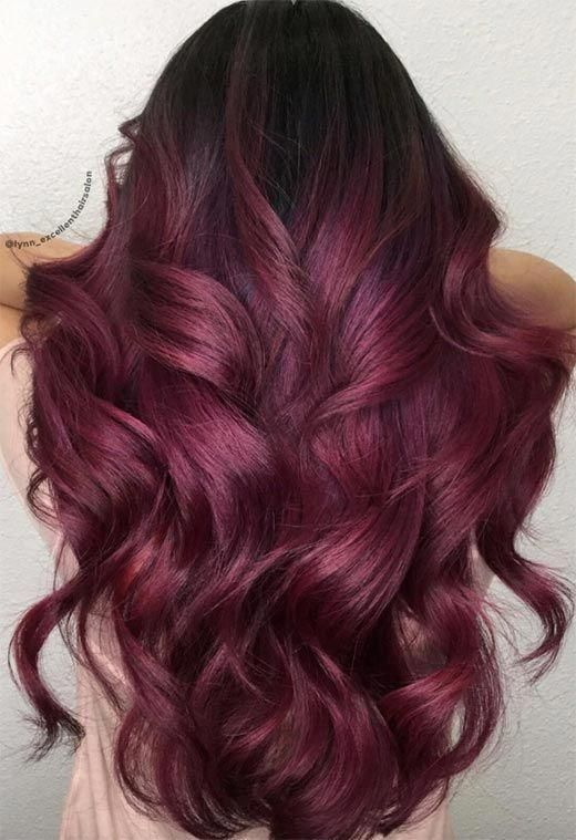 Hair Color maroon hair color
