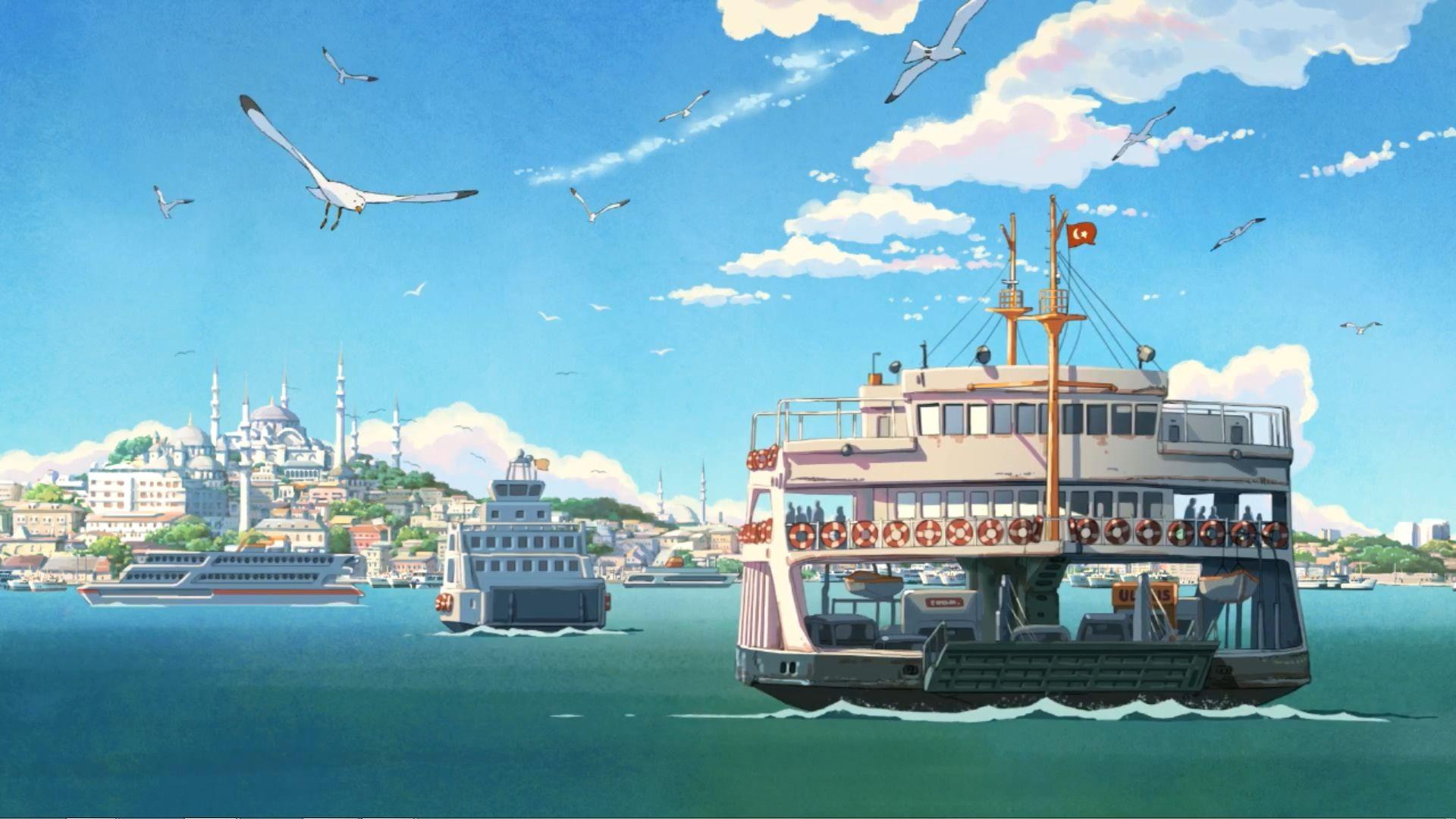 Anime scenery hd wallpaper 1920x1080 id22941 anime