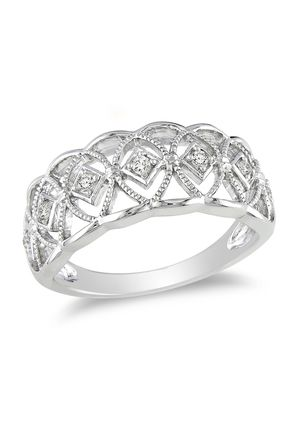 AMOUR Diamond Cut-Out Band Ring