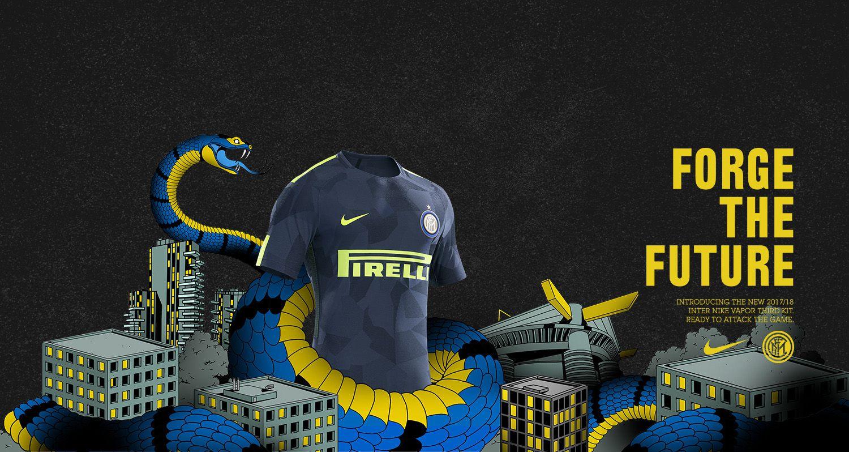 Terceira camisa da Inter de Milão 2017 2018 Nike   Camisa