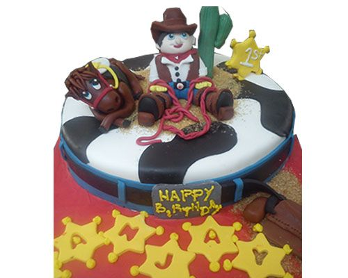 Order cowboy birthday cakes online in coimbatore. #cakes #themecakes #cakesincoimbatore #birthdaycakes #onlinecakes