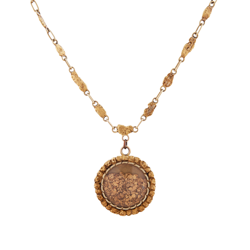 K yellow gold victorian nugget necklace like like like