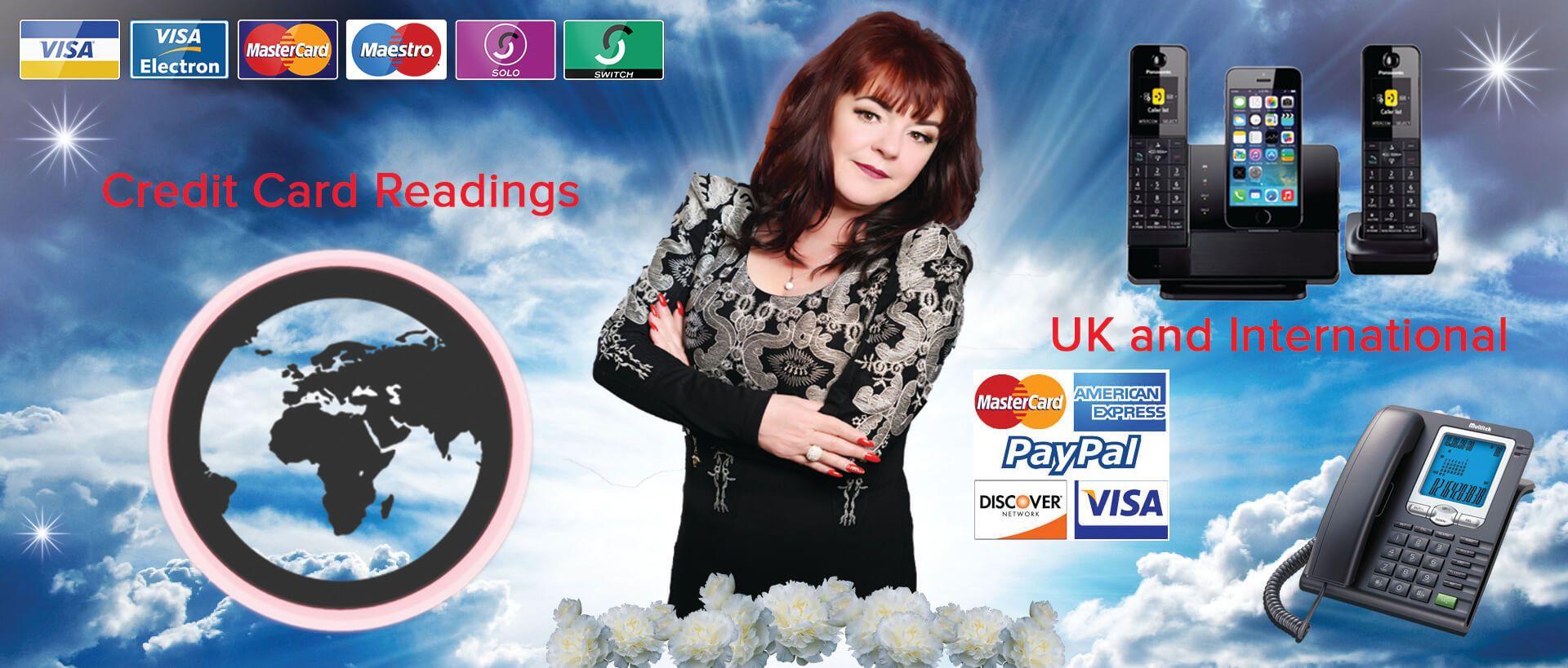 dee rendall, credit card readings, psychic, spiritual