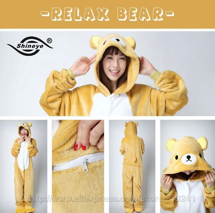 Shineye New Unicorn Totoro Minion Panda Adult Unisex Flannel Pajamas Sets Costume Cosplay Cute Animal Onesies For Women Men