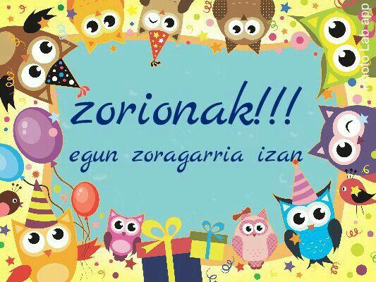 Zorionak zuri esaldiak pinterest felicitaciones - Videos graciosos para cumpleanos ...