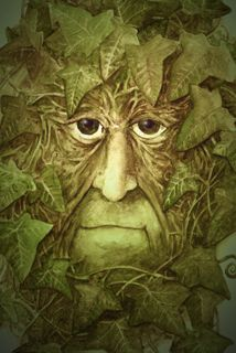 Green Man and the Gatekeeper - Green Man Greetings Cards by Clive Barrett. Four cards £6.00
