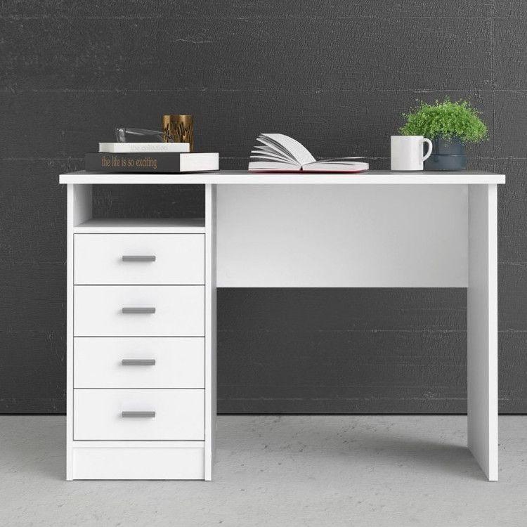 Ojcommerce In 2020 White Desk With Drawers Tvilum Refurbished Desk