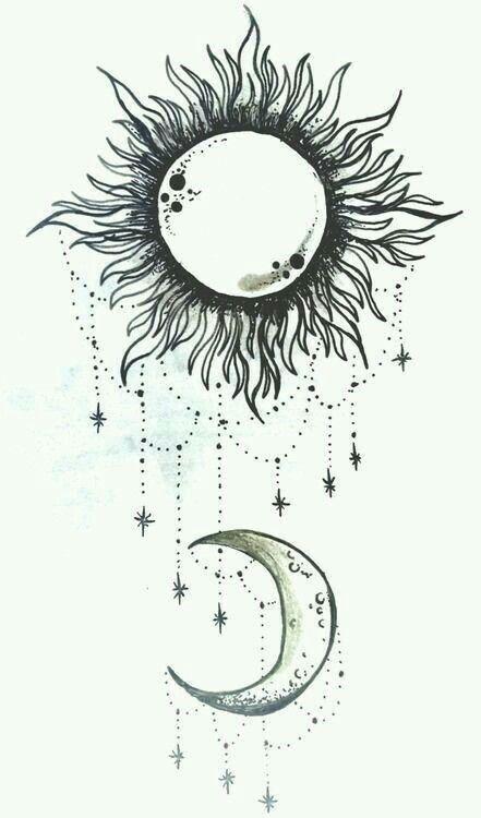 Sol Y Luna Tatuaje Sol Y Luna Disenos De Tatuaje De Luna Tatuaje De Sol