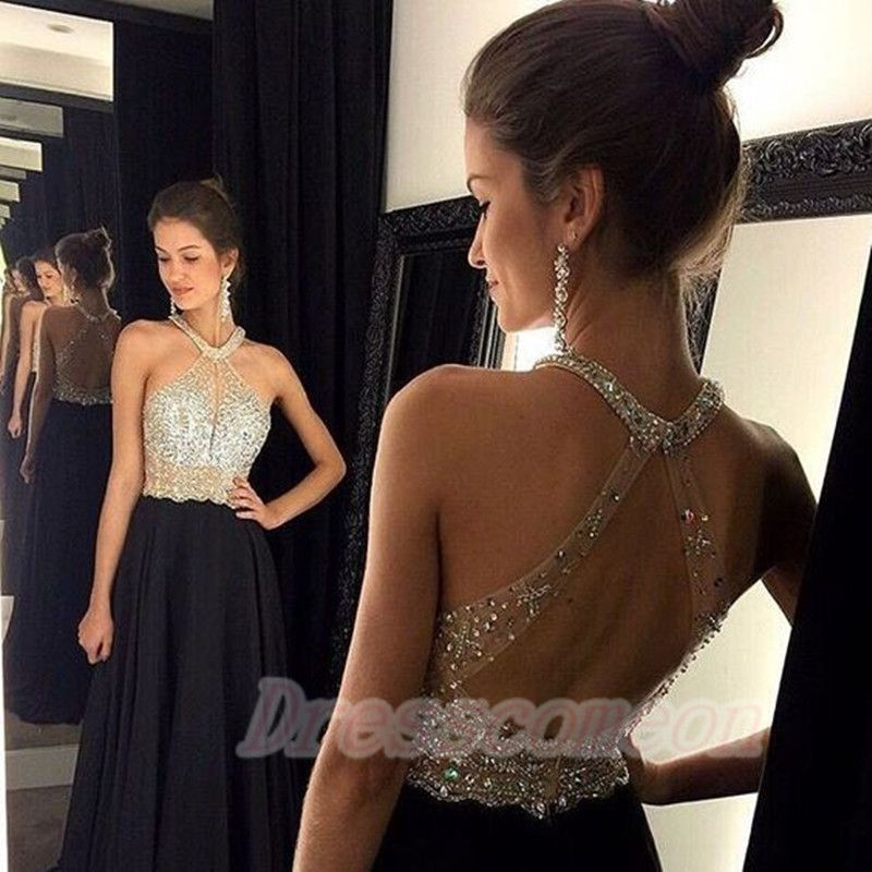 2016 Hot Sales Long Prom Dresses,Black Elegant Evening Dresses,Open Back Party Prom Dresses,A-line Prom Dresses http://www.luulla.com/product/524220/2016-hot-sales-long-prom-dresses-black-elegant-evening-dresses-open-back-party-prom-dresses-a-line-prom-dresses