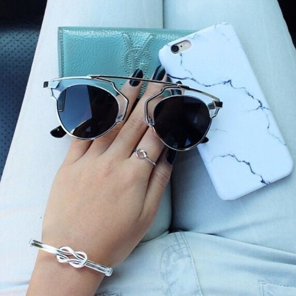 """Selling this """"Silver Dior Sunnies"""" in my Poshmark closet! My username is: bboutiques. #shopmycloset #poshmark #fashion #shopping #style #forsale #Dior #Accessories"""