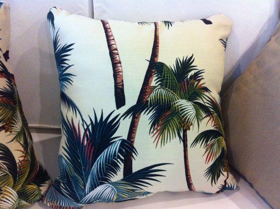 palm tree decorative cushion, via etsy