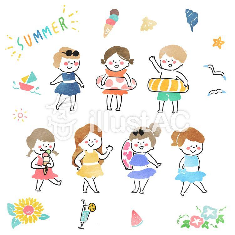 夏 子供イラスト 2020 子供イラスト キュートなイラスト