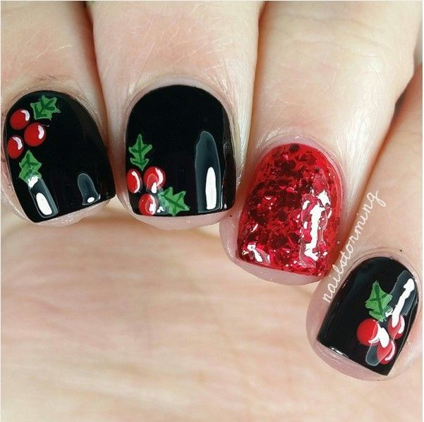30 Totally Cute Christmas Designs For Short Nails Pinterest